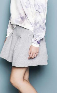 Как и с чем носить юбку в складку