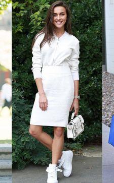 Платье с кедами  —  как сочетать в 2017 году