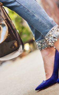 Как украсить джинсы или джинсовые шорты в домашних условиях