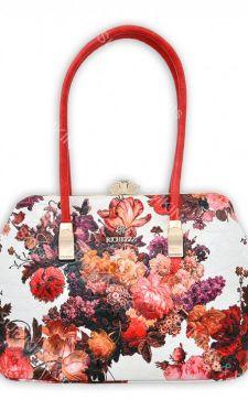 Модные женские сумки с цветочным принтом