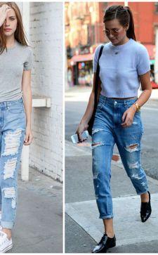 С чем носить джинсы бойфренды в 2017 году