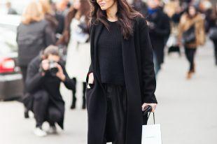 Черное пальто: красивые женские образы