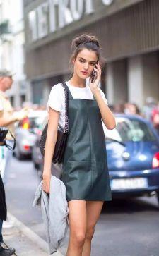 Стильные кожаные платья: последние тенденции 2017 года