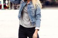 Модные женские джинсовые куртки: стильные луки