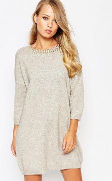 Модные зимние платья: красивые и теплые