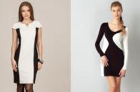 Модные двухцветные платья: красивые модели и цвета