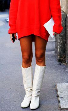 Сапоги под платье или как сделать образ более женственным?