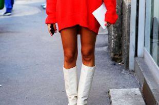 Сапоги под платье ниже колена: как носить, чтобы образ был женственным
