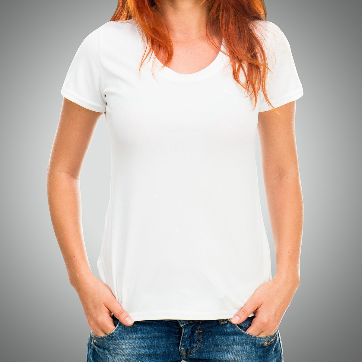 белая футболка печать