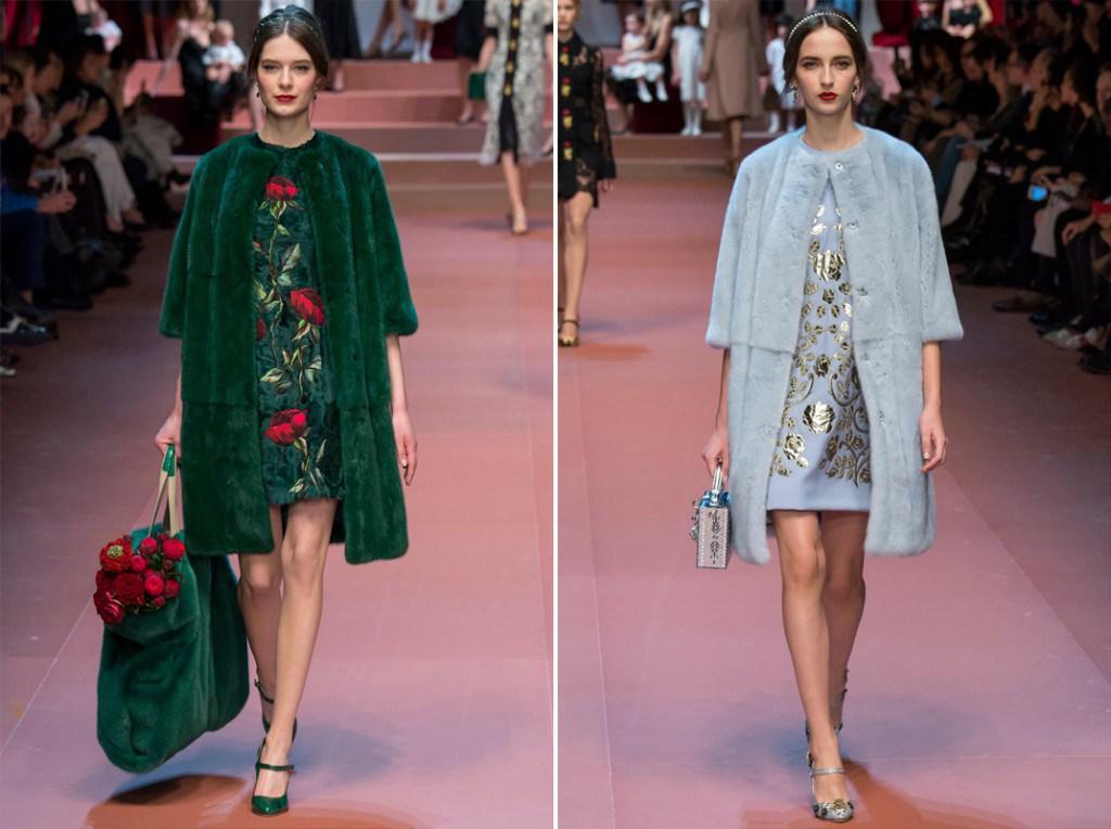 Меховые пальто из коллекции  Dolce&Gabbana