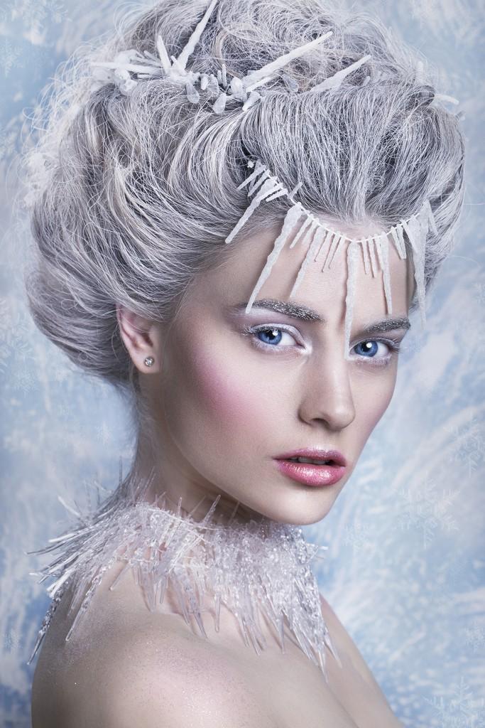 Белый макияж на Новый год