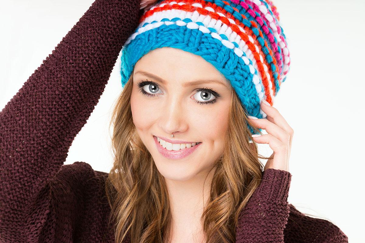женские шапки для круглого лица вязаные модели головных уборов для