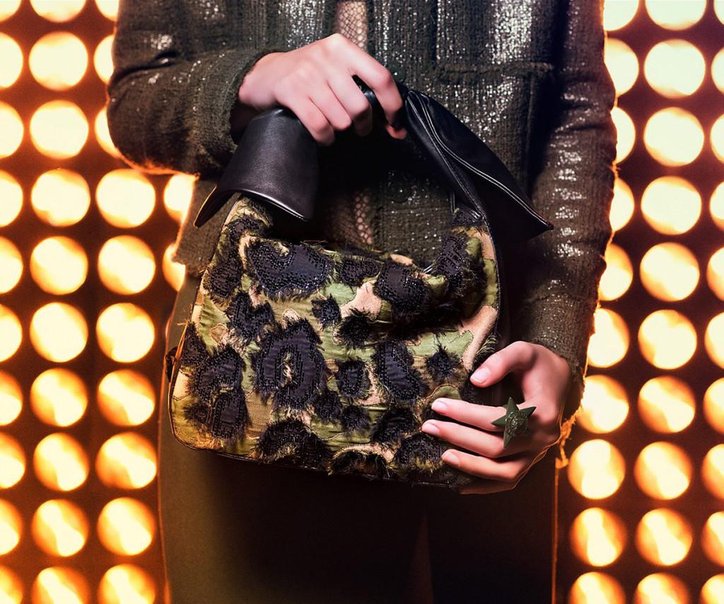 Сумка Versace с леопардовым принтом