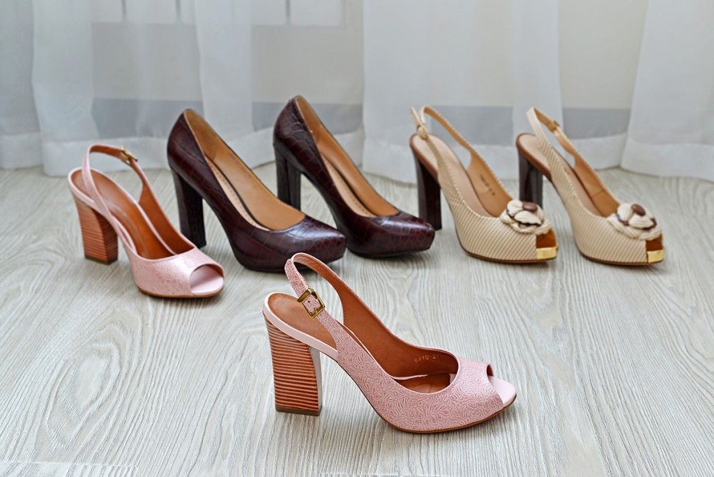 Туфли на массивном каблуке