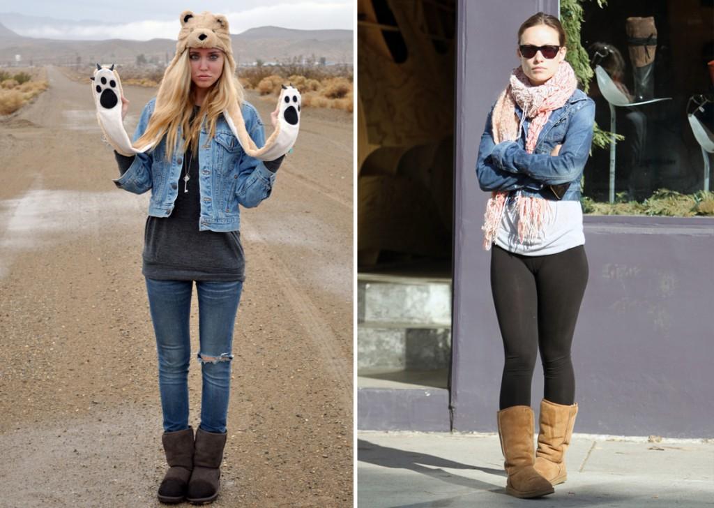 Угги с джинсовой курткой