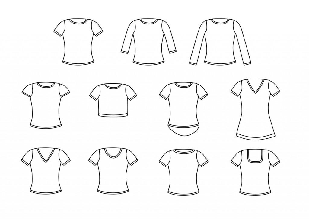 Фасоны белых футболок.