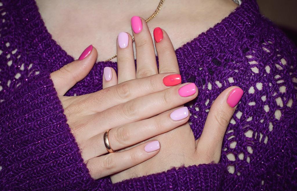 Ногти в розовой цветовой гамме