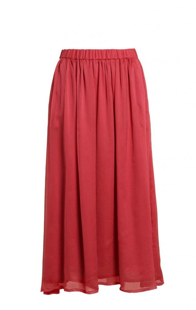 Длинная расширенная юбка