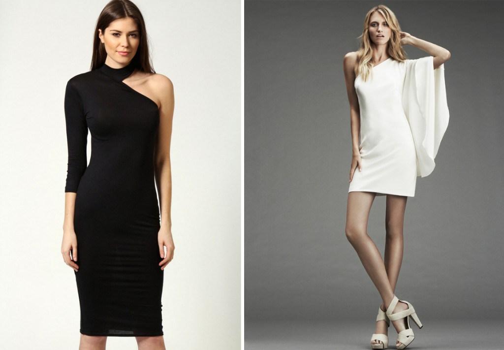 Платье без одного рукава