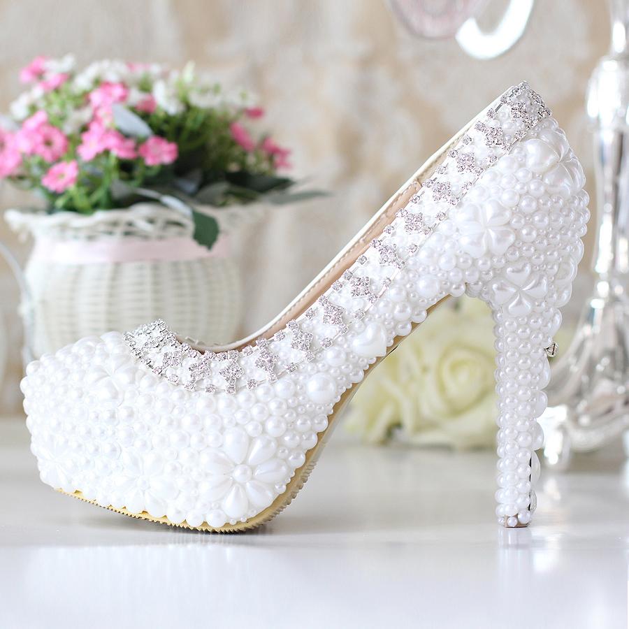 Свадебные туфли с жемчугом