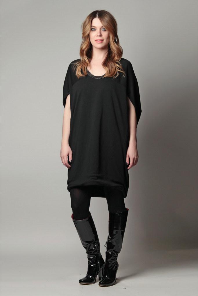 Черные сапоги с платьем