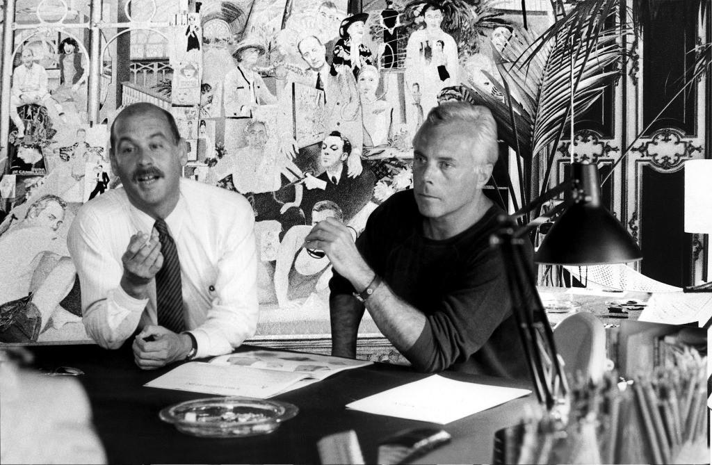 Sergio Galeotti и Giorgio Armani, 1978