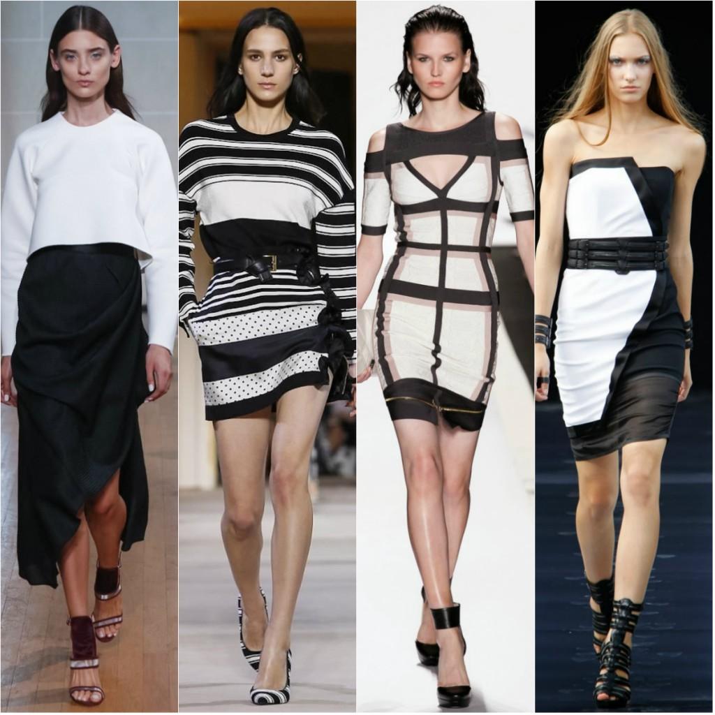Сочетание черного и белого в одежде