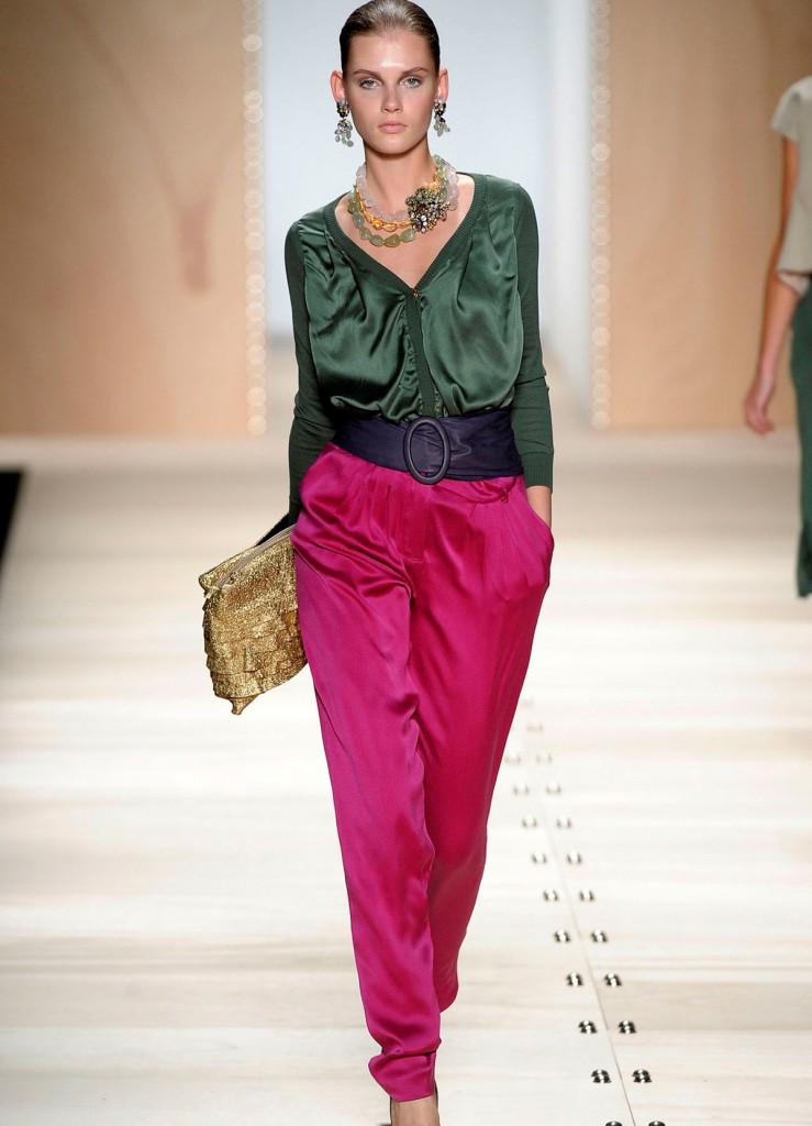 Смелая расстановка цвета в одежде