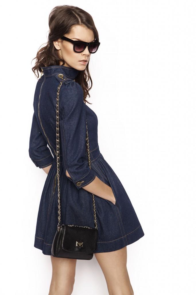 Темное джинсовое платье