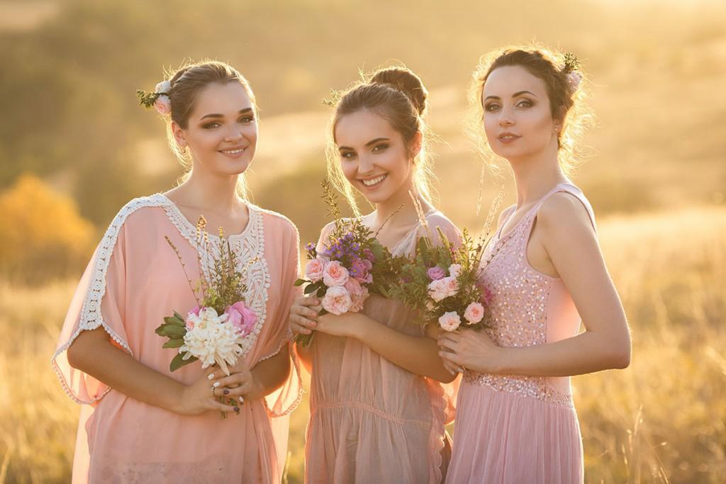 Нежные платья для подружек невесты