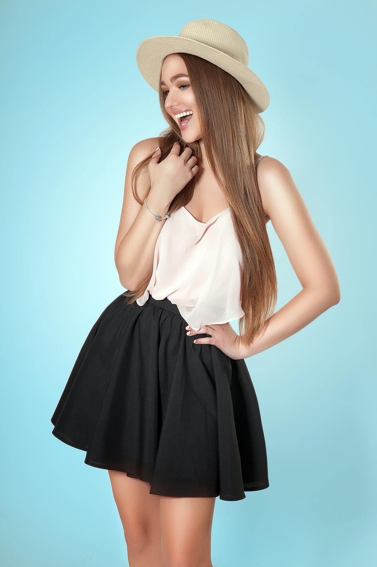 С чем надеть черную юбку картинки