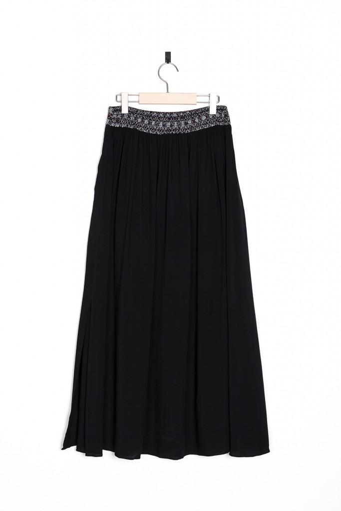 Черная юбка макси