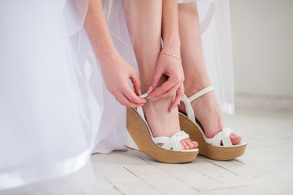 Свадебные туфли на платформе