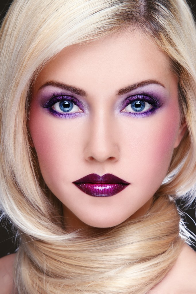 Макияж глаз для блондинок