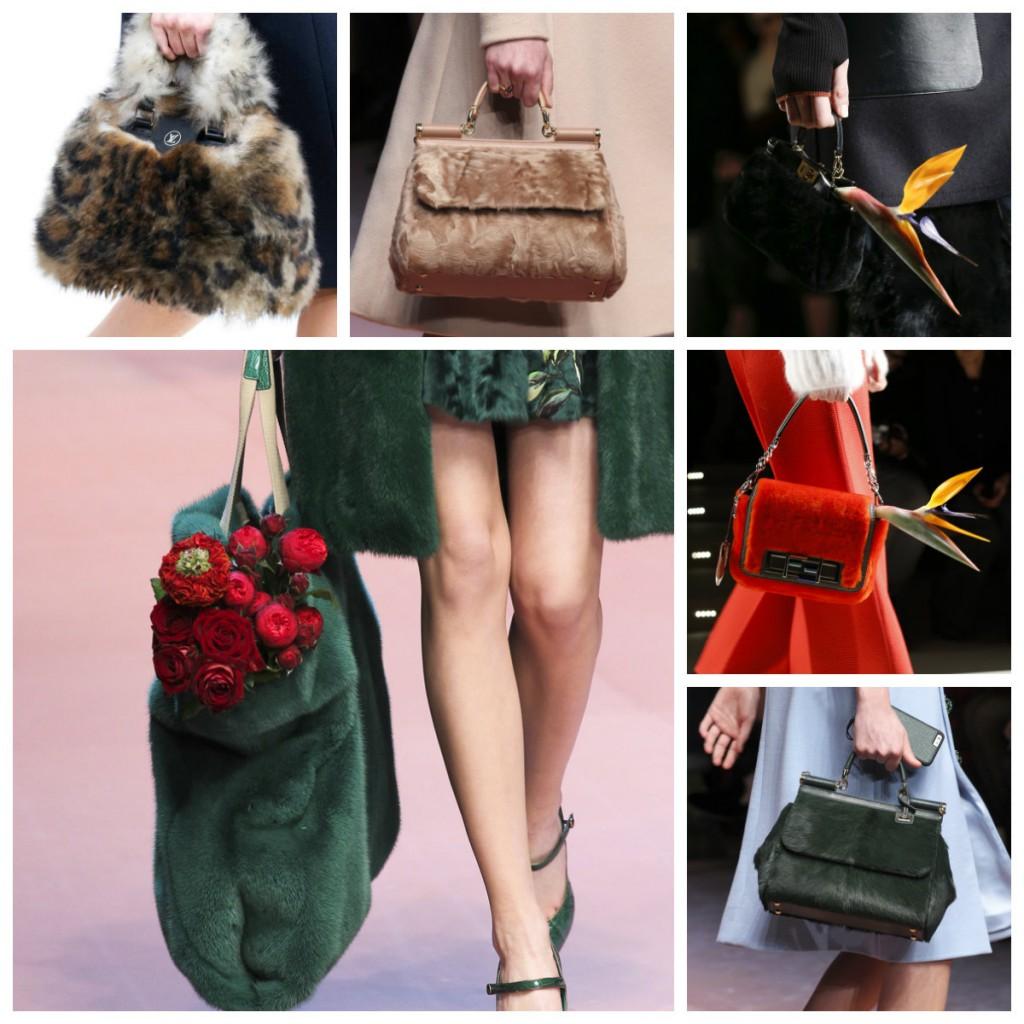 Модные меховые сумки