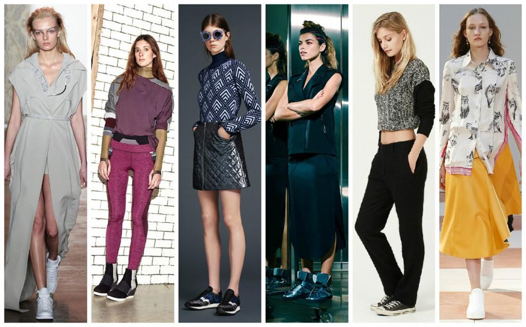 Модные женские образы с кроссовками