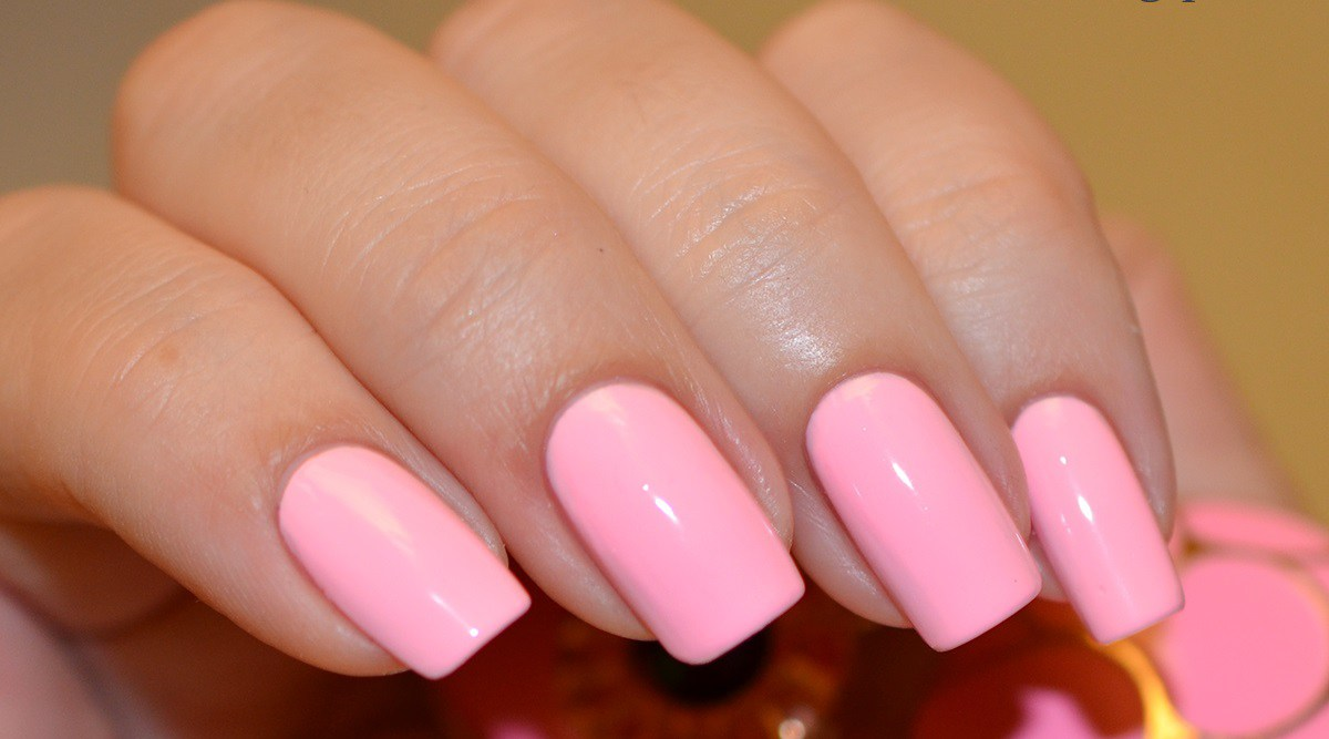 Фото ногтей гель лак розовые
