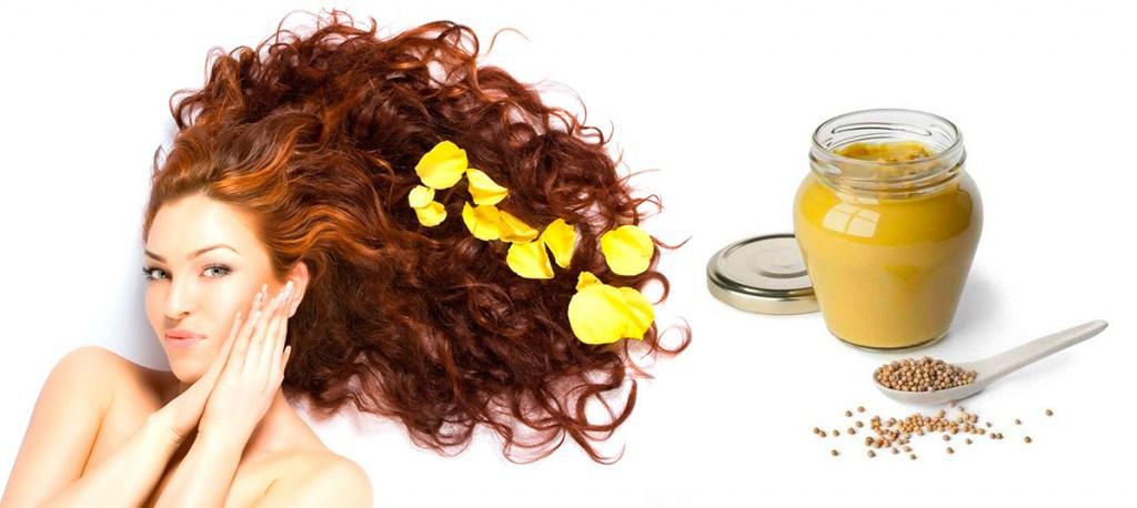 Здоровые рыжие  волосы после маски для волос с горчицей