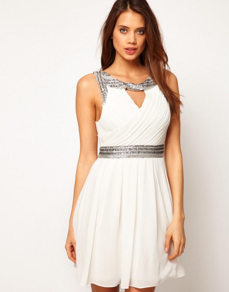 Короткое греческое свадебное платье