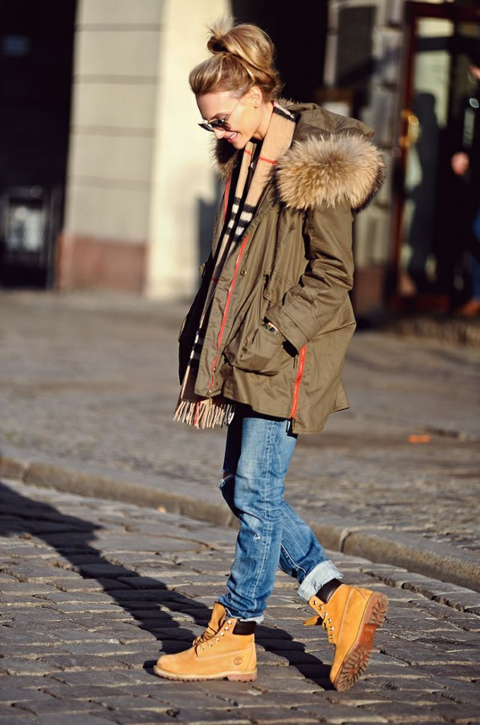 Женские тимберленды с курткой