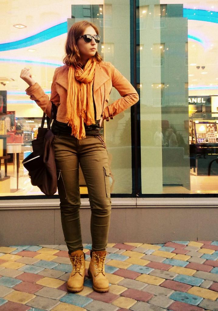 Женские тимберленды с брюками