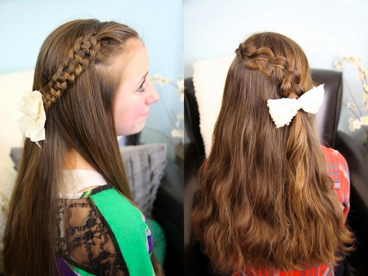 Прически для девочек на длинные волосы в школу фото
