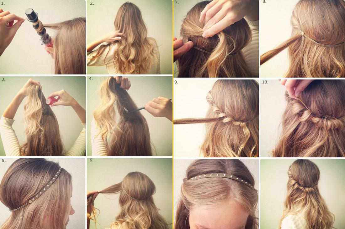 Легких прически на средние волосы