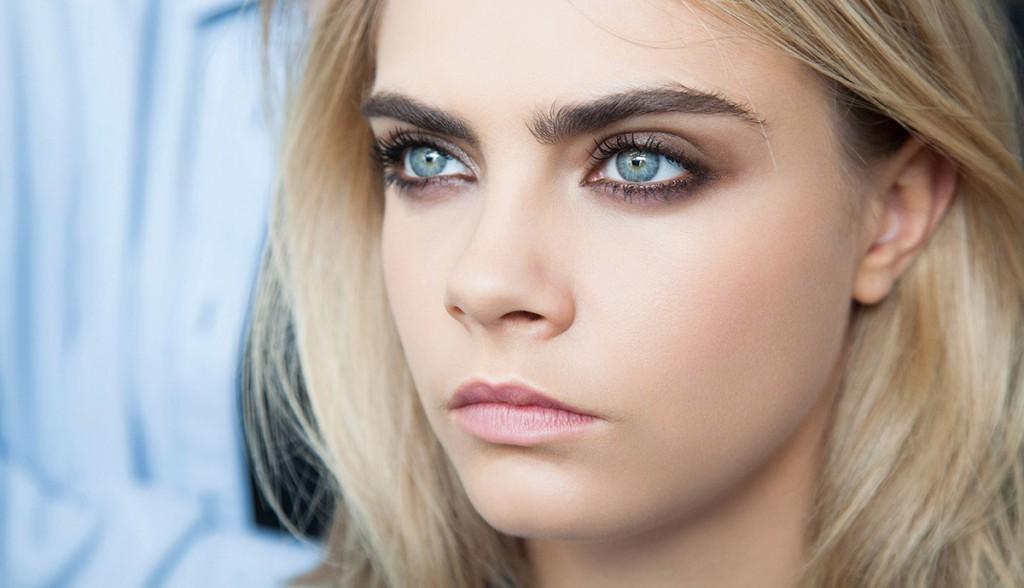 Восточный макияж для голубых глаз
