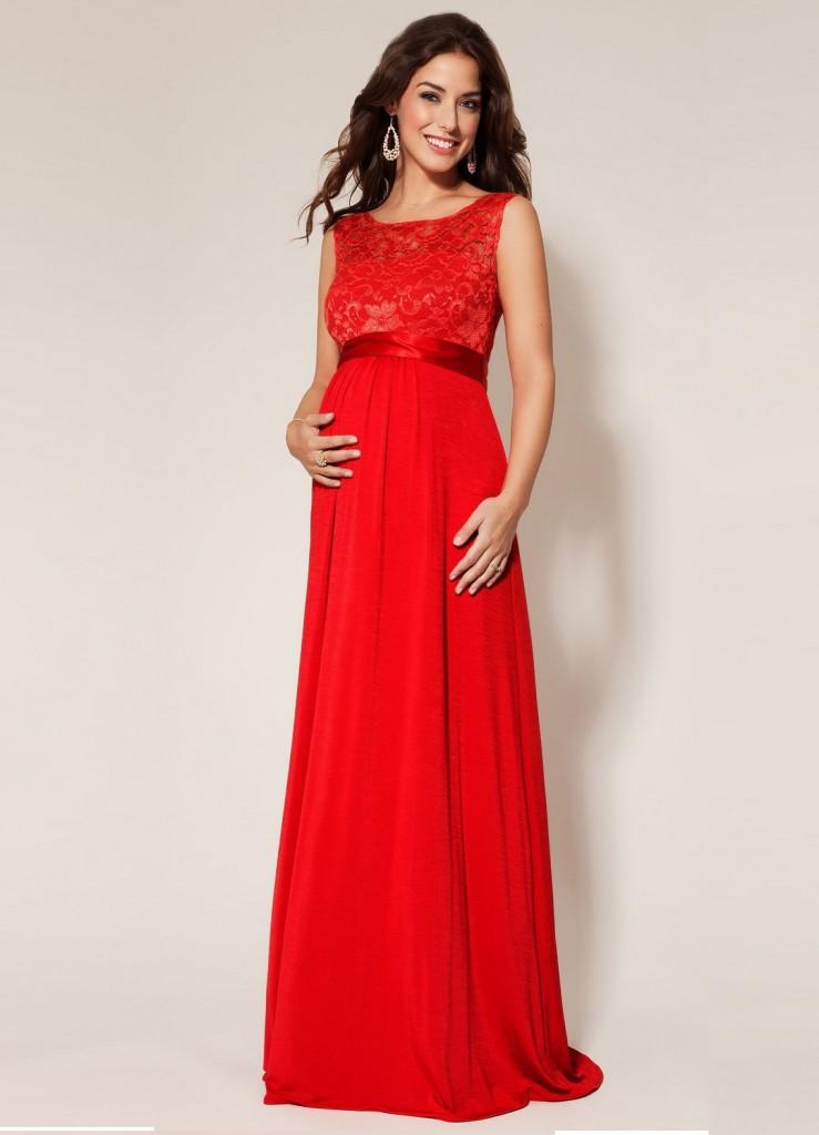 Беременные в длинных платьях