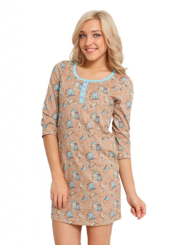 Модное домашнее платье с принтом
