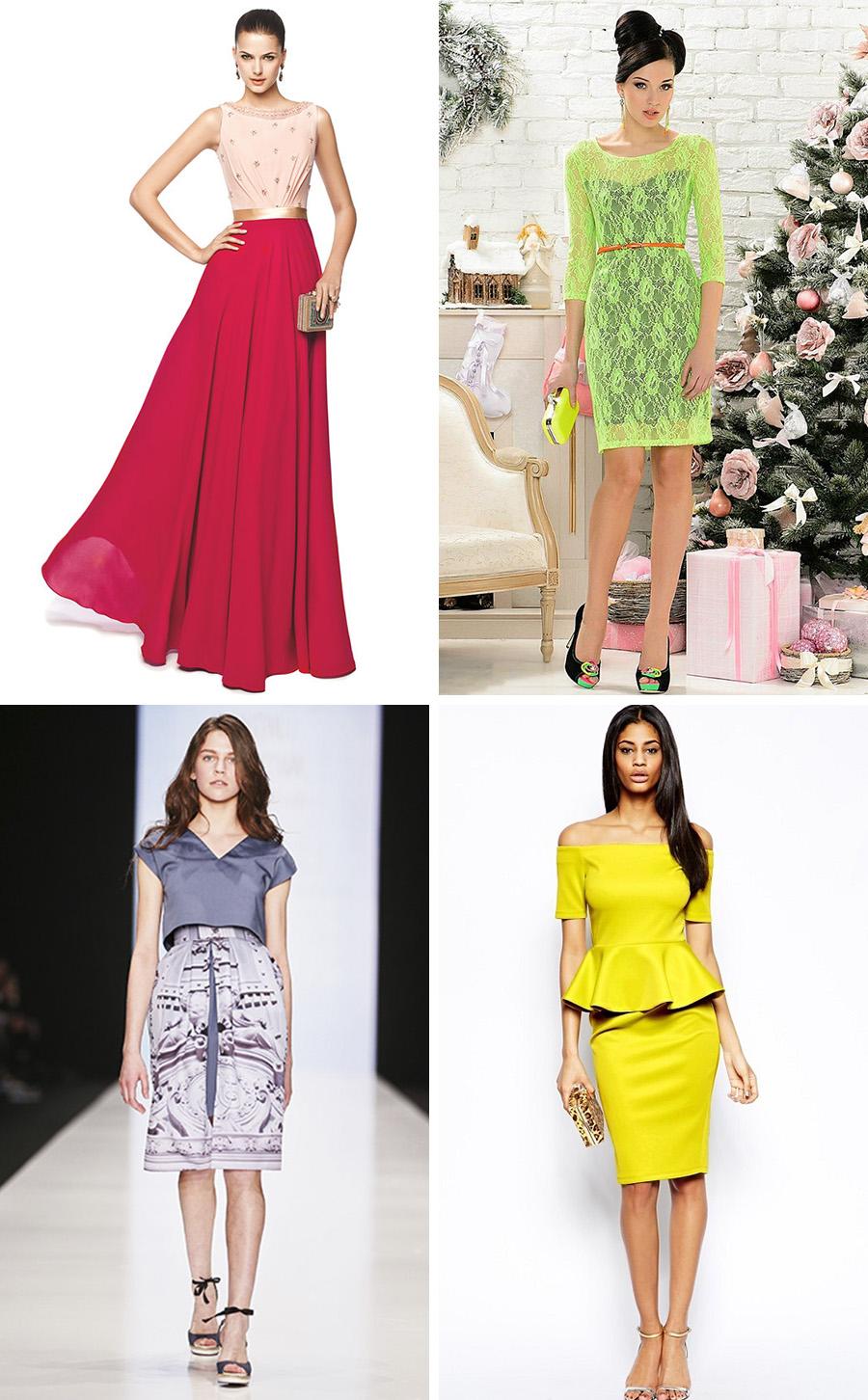 Цветные платья 2017-2018 новинки