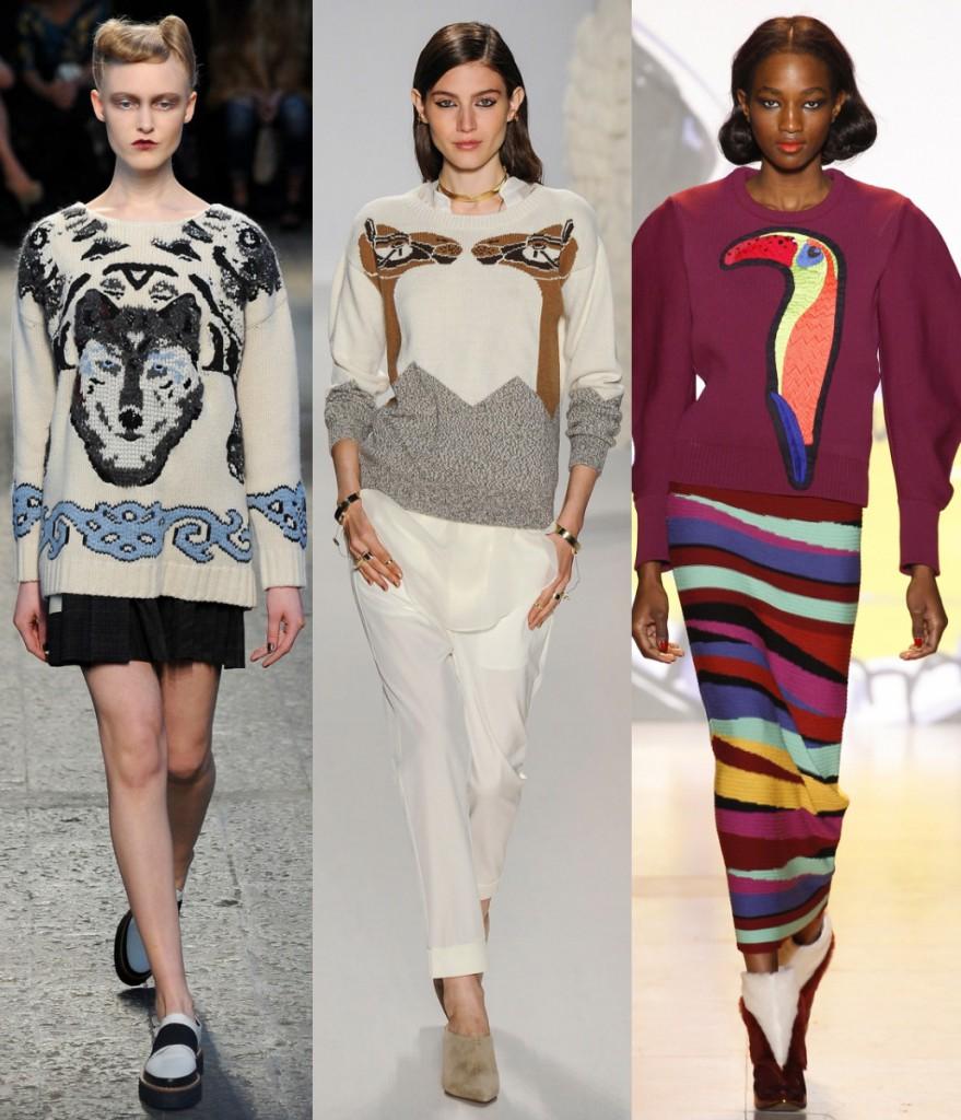 Модные женские свитеры
