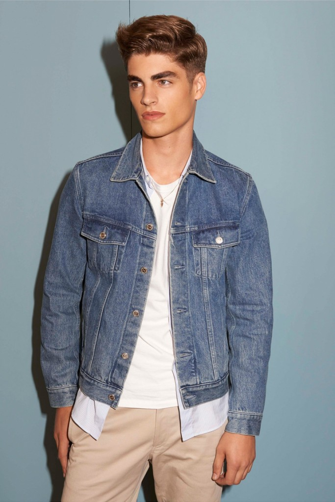 Стильная мужская джинсовая куртка