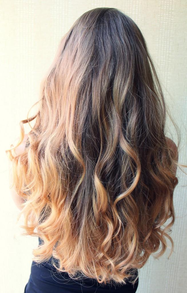 Эффектное омбре для длинных волос